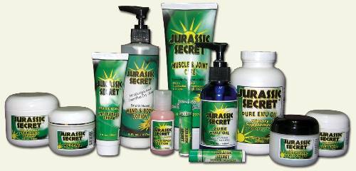 Jurassic Secret Emu Oil Product Line